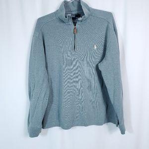 Polo Ralph Lauren 1/4 Zip Ribbed Side Slit Shirt